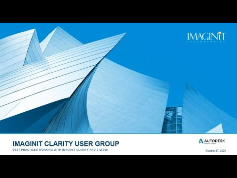 IMAGINiT Clarity User Group October 2020