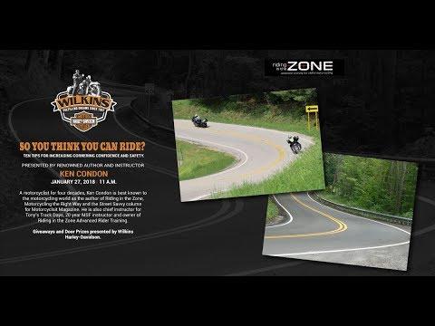 Ken Condon and his Tips for Cornering Presentation Wilkins Harley-Davidson