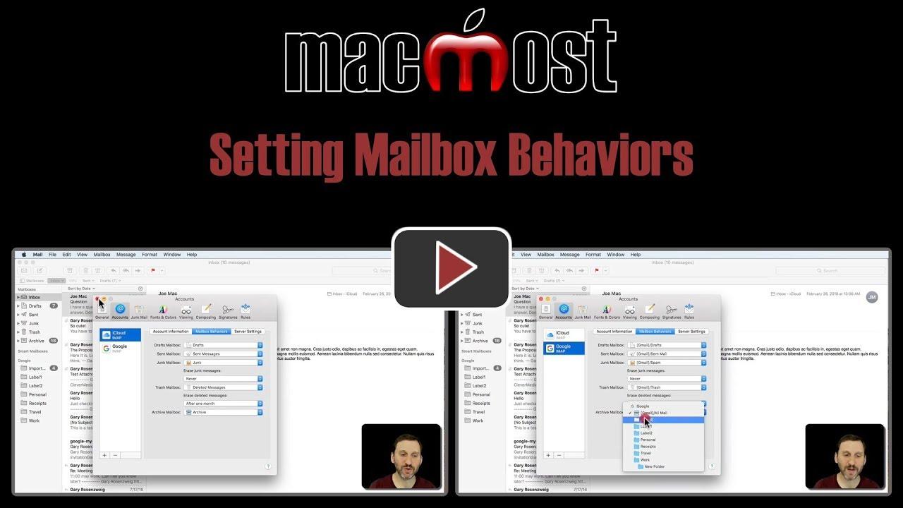 Setting Mailbox Behaviors
