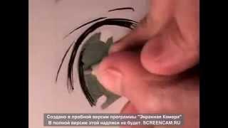 Как быстро научится рисовать аниме глаза(В этом видео вы узнаете как быстро , но красиво рисовать аниме глазки это совсем не трудно Подписывайся..., 2015-04-07T16:11:25.000Z)