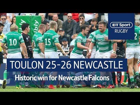 Toulon vs Newcastle Falcons (25-26) Heineken Champions Cup Highlights