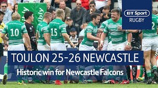 Toulon vs Newcastle Falcons (25-26) Heineken Champions Cup Highlights