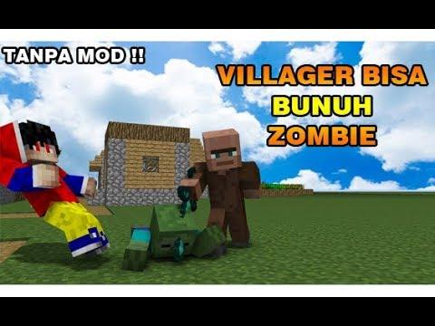 Cara Supaya Villager Bisa Bunuh Zombie Minecraft Indonesia Youtube