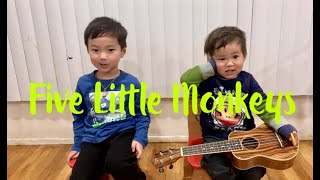 Five Little Monkeys // Sing Along Children Songs with CC-brothers // Track #12 // Nursery Rhymes