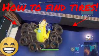 How to get tires in Fortnite(Creative Mode) Easiest way!