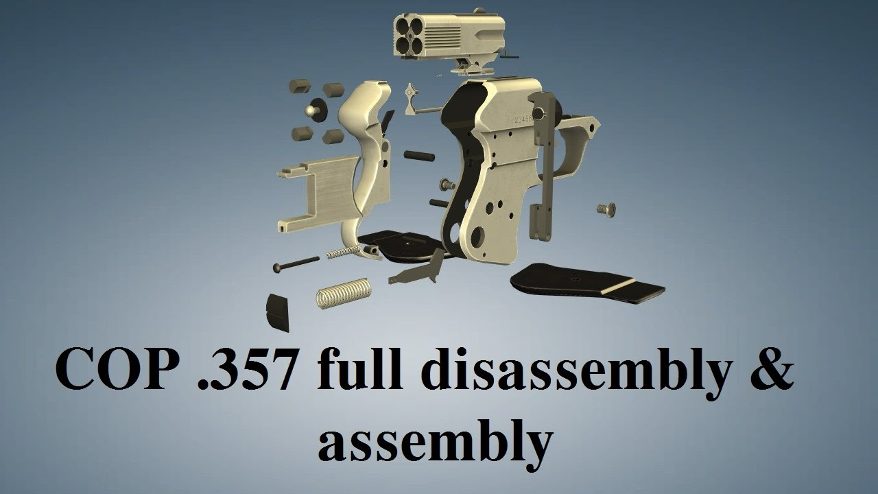 COP  357 Derringer: full disassembly & assembly