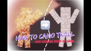 How to Camo Troll (and change skins in-game)
