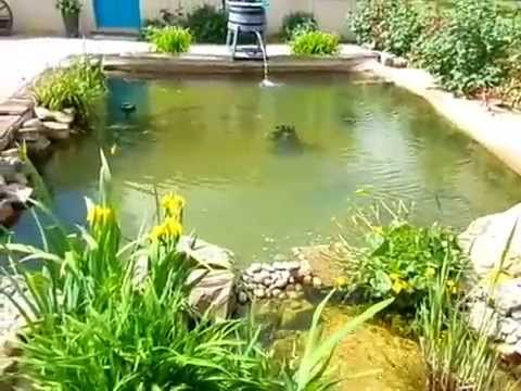 bassin de jardin de xavier avec cascade youtube. Black Bedroom Furniture Sets. Home Design Ideas