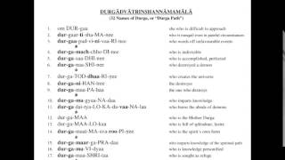 Durgaadvaatrinshannaamamaalaa 32 Names of Durga, or Durga Path (3 times morning chanting)