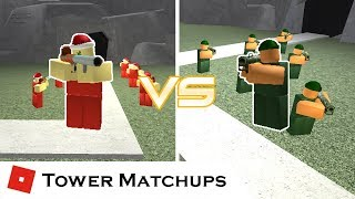 Tube Launcher Showdown | Tower Matchups | Tower Battles [ROBLOX]