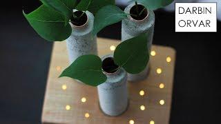 Concrete Vases w/ LED Fairy Lights thumbnail