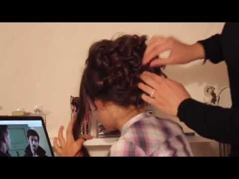Curly Updo Prom Hair Tutorial