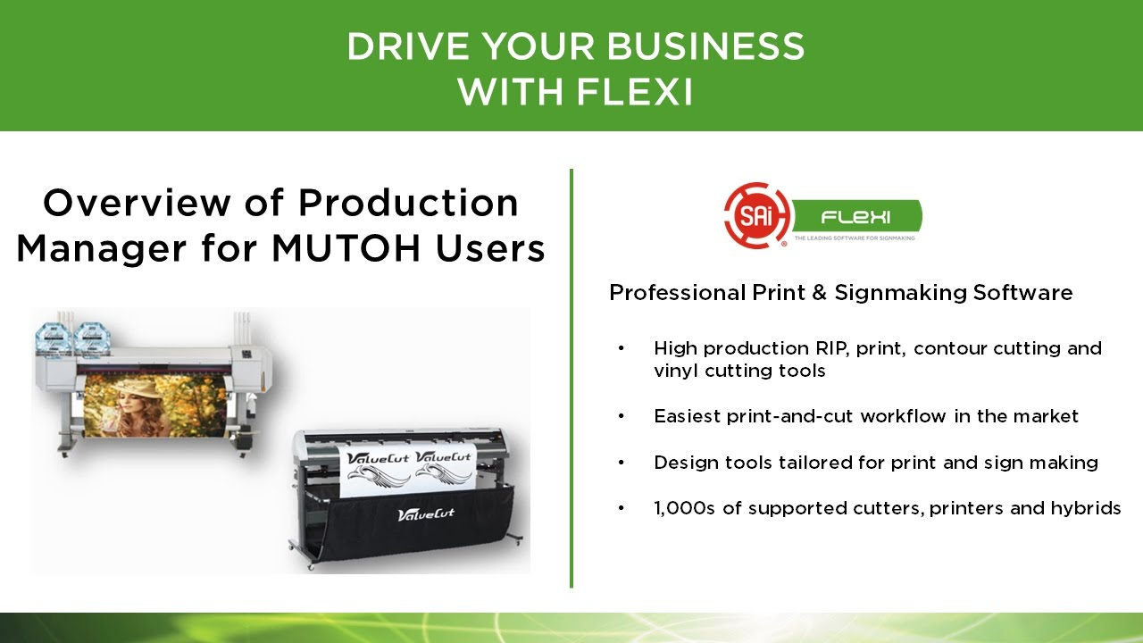 overview of flexisign print production manager for mutoh valuejet rh youtube com Flexisign Pro Street Signs Flexi 8 Flexisign Pro