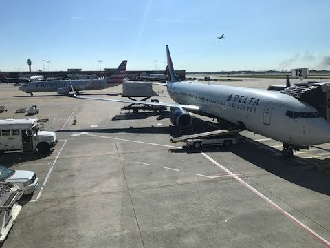 Delta Airlines Taking Off from Atlanta to New York