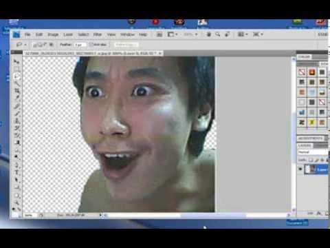 การตัดรูปพื้นหลังด้วย Photoshop CS4
