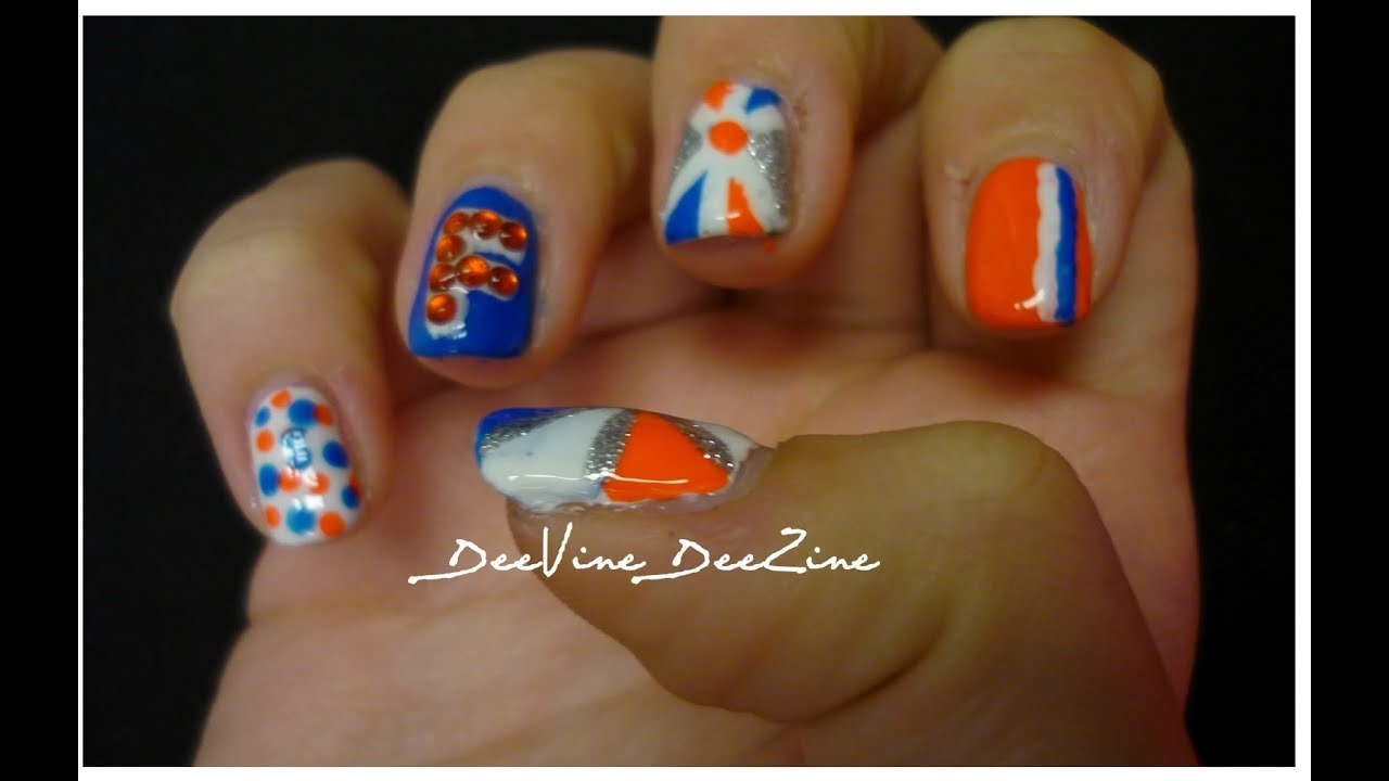Florida Gator Nail Art - YouTube