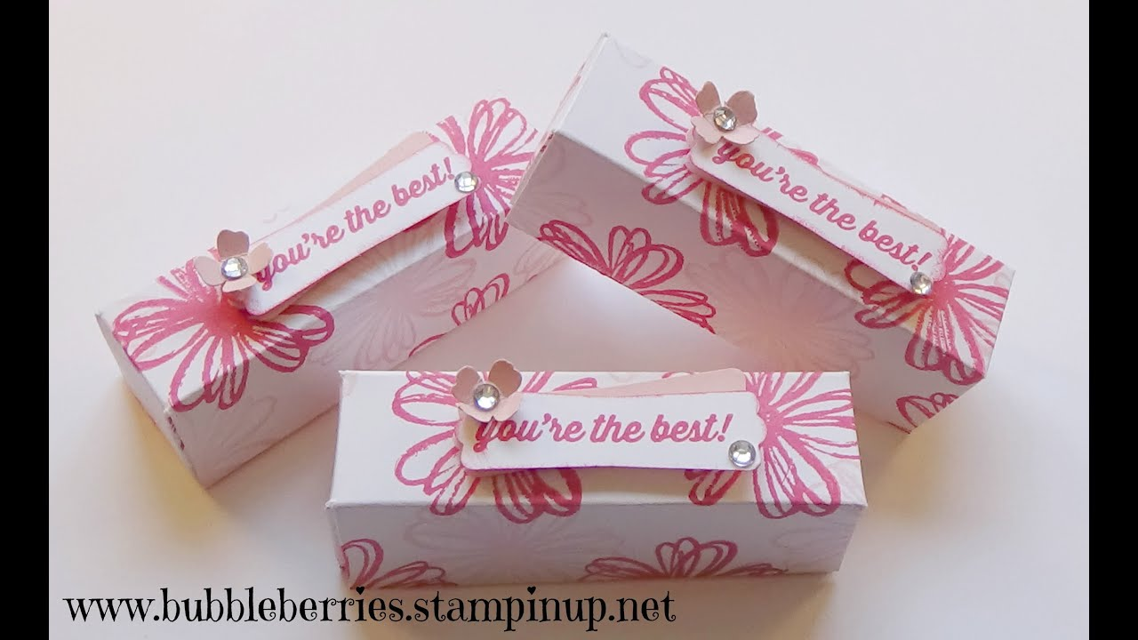 Stampin\' Up! Lipstick/Gloss or Treat Gift Box using Flower Shop ...