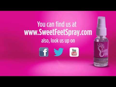 Actress Ashley Tramonte with Sweet Feet Spray