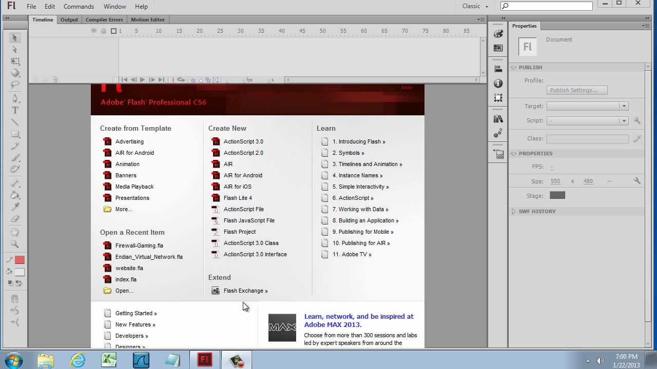 adobe flash cs6 tutorial for beginners pdf