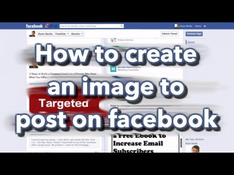 how to create an image to post on facebook thumbnail