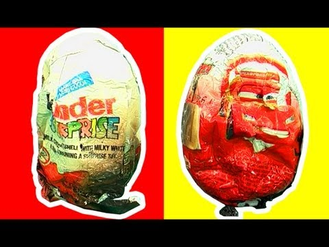 Surprise Eggs Kinder Disney Cars Vs Microwave Oven Extreme