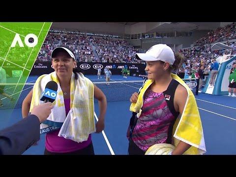 Barty/Dellacqua on court interview (2R) | Australian Open 2017