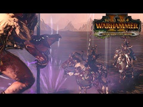 Chaos vs High Elves - The Queen & The Crone // Total War: Warhammer II Online Battle #253 |