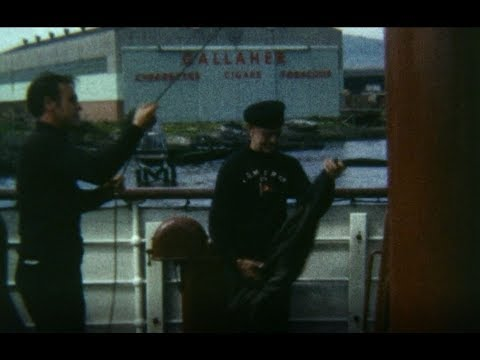 1960's 8mm Cine Film: Isle of Man Steampacket Ferry to Belfast.