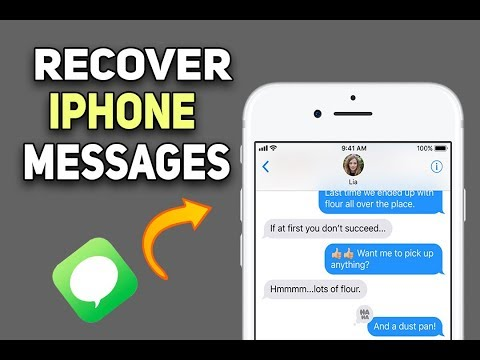 How to recover deleted text messages off my iphone