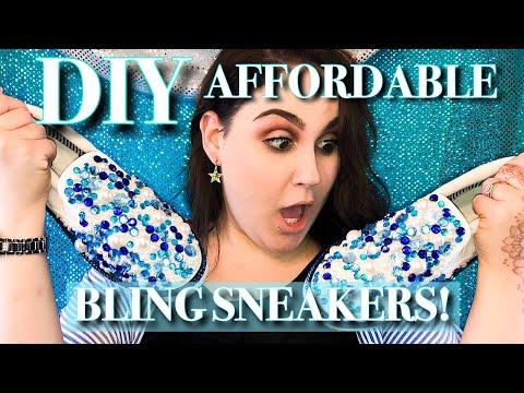 DIY BLING SNEAKERS! | FUN AND AFFORDABLE!!!!!