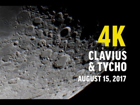 4K Lunar Surface Clavius + Tycho - Closest Views - August 15 2017