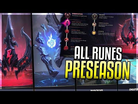 PRESEASON 2018 IS HERE!! All New Runes Revealed & Explained! Runes Reforged - League of Legends