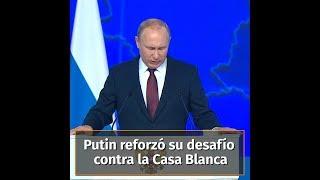 Putin amenazó con apuntar sus misiles a Estados Unidos