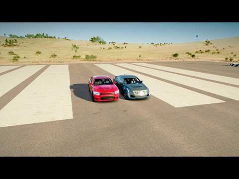 Dodge CHARGER SRT HELLCAT vs Cadillac CTS-V - DRAG RACE! Forza Horizon 3
