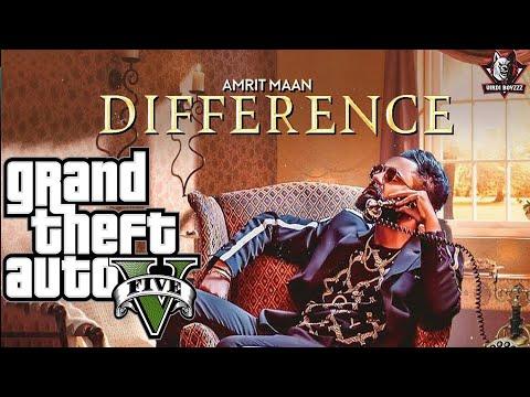 Difference(GTA 5 Video) | Amrit Maan ft Sonia Maan | Latest Punjabi Songs 2018 | Bamb Beats