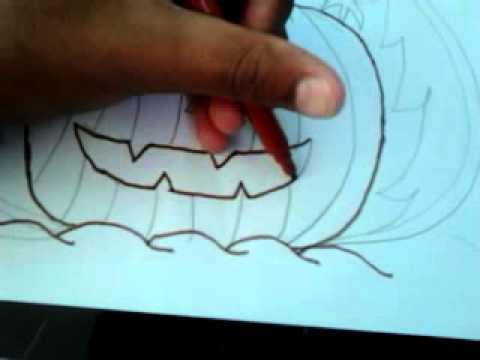 Comment dessiner une citrouille facilement youtube - Comment dessiner une sorciere facilement ...