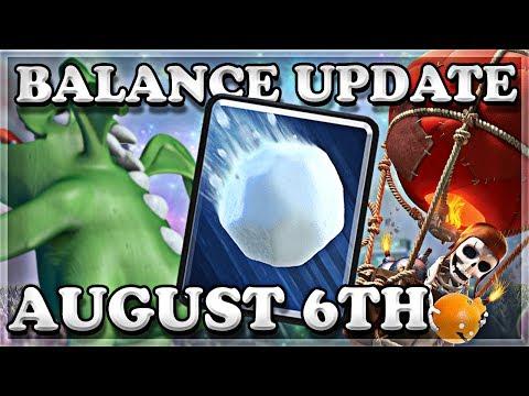 Balance Update 08/06 | Clash Royale 🍊