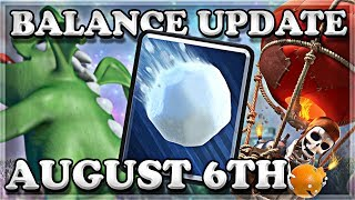 Balance Update 08/06 | Clash Royale 🍊
