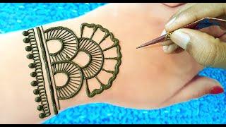 Arabic Mehndi Design for hand ||simple & easy Mehndi Design ||Gol Tikki mehendi ||beginners mehendi
