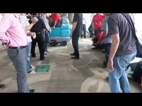 Klenco tennant R14 Deep Cleaning Ride on Carpet Extractor @Ngurah rai International Airport Bali