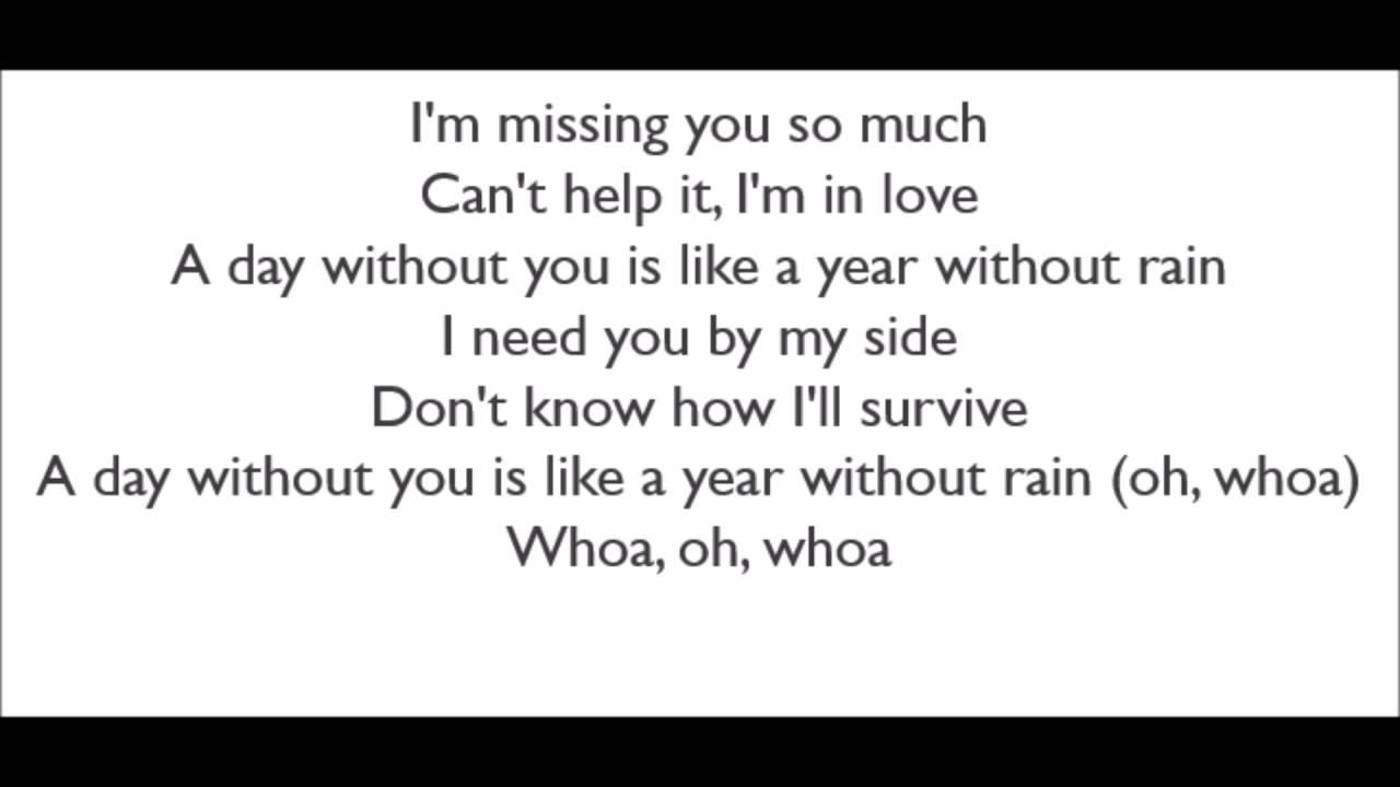 Selena Gomez Lyrics - YouTube