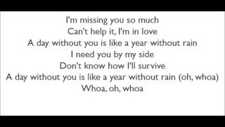 Selena Gomez & The Scene - A Year Without Rain (Lyrics)