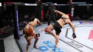 """UFC 2 Freaks Show / Santa Ferrari '""""Bazooka"""" vs Laya Miller """"The Cobra"""""""