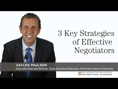 3 Key Strategies of Effective Negotiators