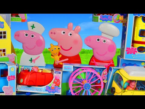 peppa-pig-surprise-toys:-playhouse,-camper-van,-bus-&-toy-vehicles-for-kids
