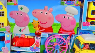 Peppa Pig Surprise Toys: Playhouse, Camper Van, Bus & Toy Vehicles for Kids