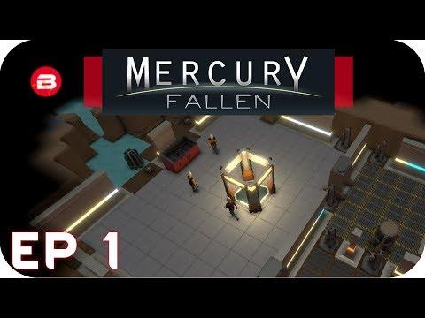MERCURY FALLEN GAMEPLAY - SCI-FI COLONY MANAGEMENT BASE BUILDING - Lets Play Mercury Fallen #1