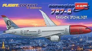 NORWEGIAN 787 COCKPIT to Bangkok