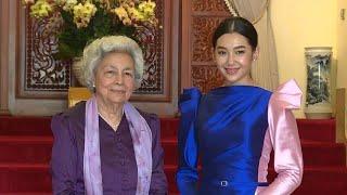 Queen Mother meets Thai Actress Bella Campen - เบลล่า-ราณี เข้าเฝ้าฯพระวรราชมารดาแห่งกัมพูชา