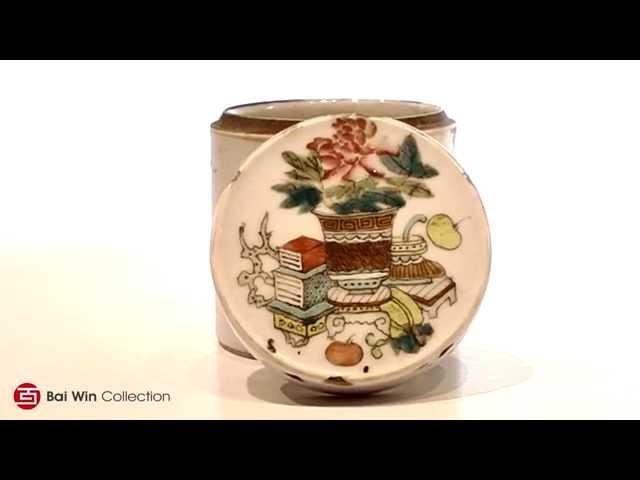 Tongzhi Guangxu Period round ceramic box